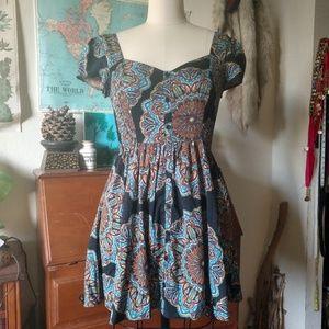 Band of Gypsies Mandala Mini Dress